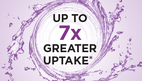 Up To 7x Greater Uptake*