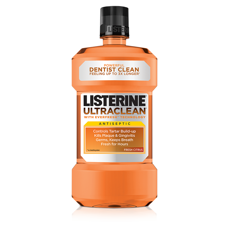 LISTERINE® ULTRACLEAN® Fresh Citrus Antiseptic Mouthwash